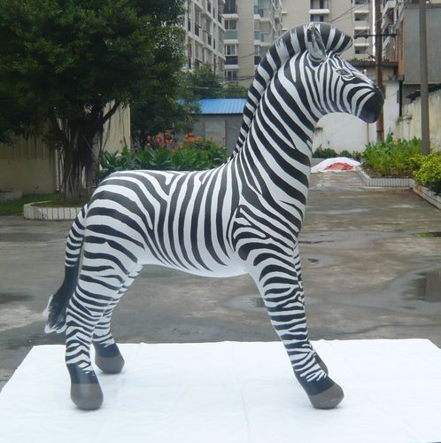 66 inch tall X 63 inch lg  inflatable zebra